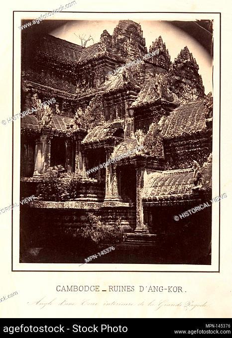 Angle d'Une Cour Intérieure de la Grande Pagode. Artist: Emile Gsell (French, Sainte-Marie-aux-Mines 1838-1879 Vietnam); Date: 1866; Medium: Albumen silver...