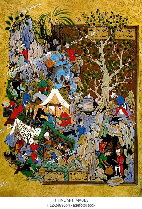 Folio from Haft Awrang (Seven Thrones), by Jami, 1539-1543. Jami (1414-1492) was one of the last Sufi poets and one of the greatest of all Persian poets