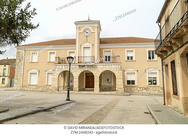 City Hall. Hontalbilla. Segovia province. Castile-Leon. Spain