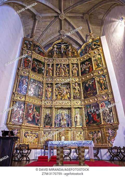 Renaissance altarpiece. Monasterio de Santa María del Salvador. Cañas. La Rioja. Spain
