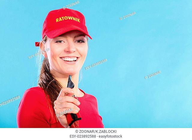 b9a0e5b4498 Lifeguard sign people Stock Photos and Images