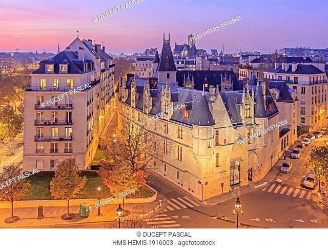 France, Paris, hotel de Sens (Sens mansion house), headquarters of Forney library in the Marais district