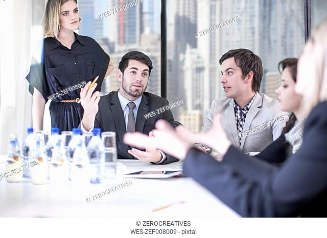 Business people dicussing in boardroom