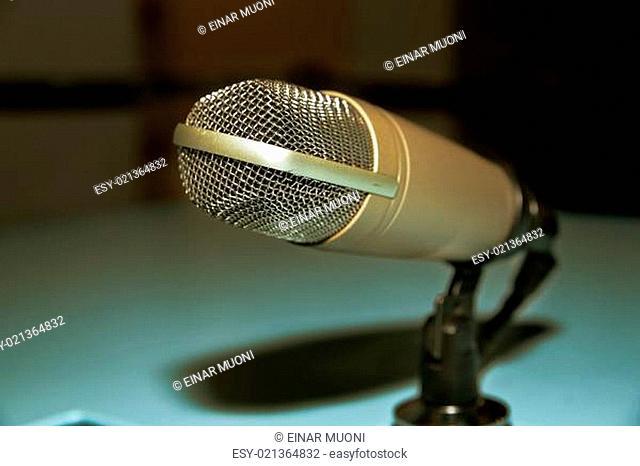 Retro style microphone shine in previous glory