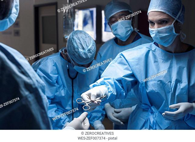 Surgical team during an operation