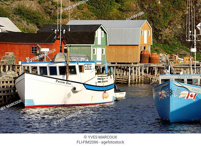 Lobster Traps at Trout River Harbour, Trout River, Newfoundland
