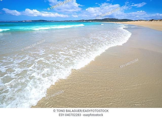 Espineiro Lanzada beach in Pontevedra of Galicia in Sanxenxo also Sanjenjo at Spain