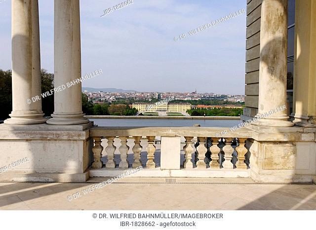 Gloriette in the gardens of Schloss Schoenbrunn Castle, Vienna, Austria, Europe