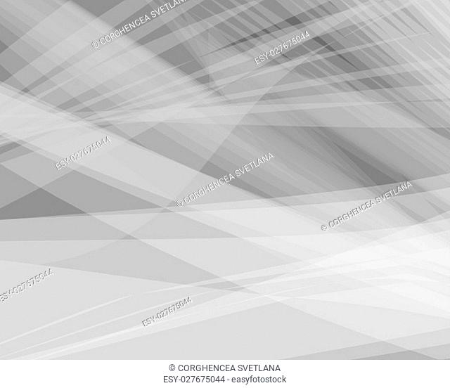 Monochrome white abstract vector background, gray transparent wave lines shapes for brochure, website, flyer design and business card