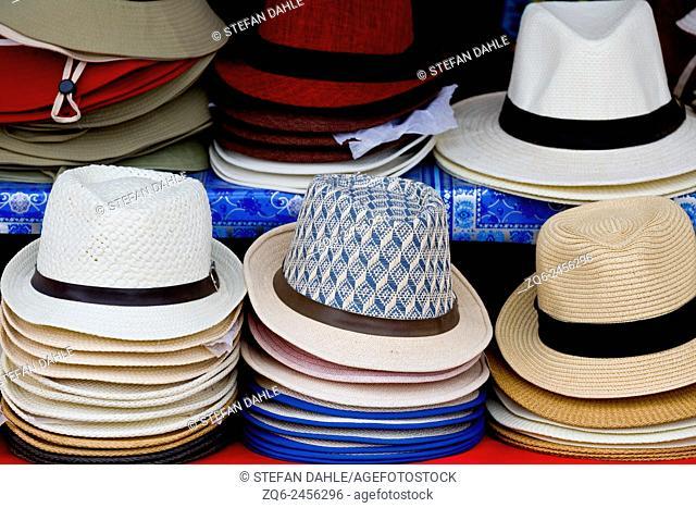 Hats in Bang Bao on Ko Chang, Thailand