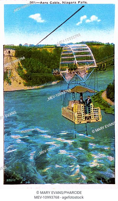 Aero Cable (aerial cable car, built 1916) with passengers, Niagara Falls, New York State, USA