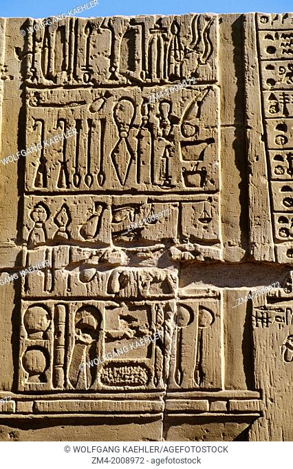 EGYPT, NILE RIVER, KOM OMBO TEMPLE, RELIEF CARVING, SURGICAL INSTRUMENTS
