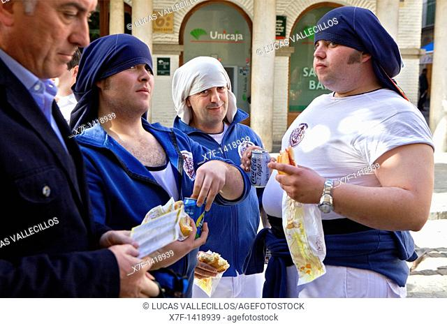 `Costaleros'penitents-carriers  Holy Week  Seville  Spain