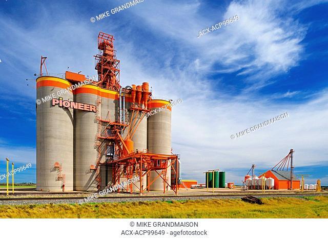 Inland grain terminal Weyburn Saskatchewan Canada