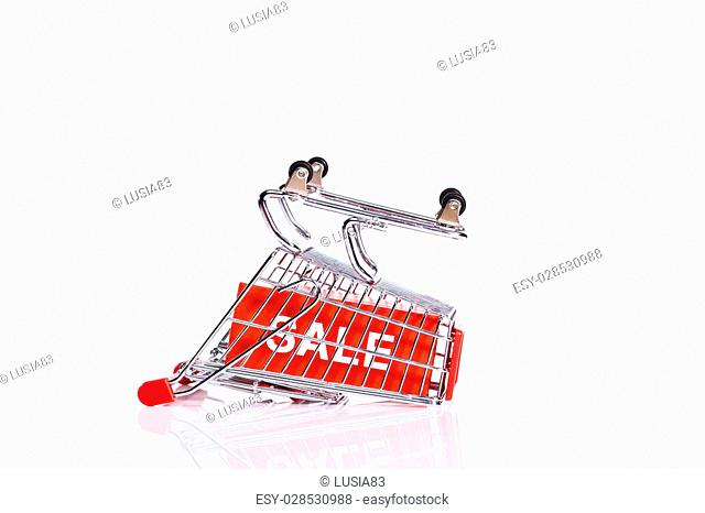 shopping trolley,sale concept