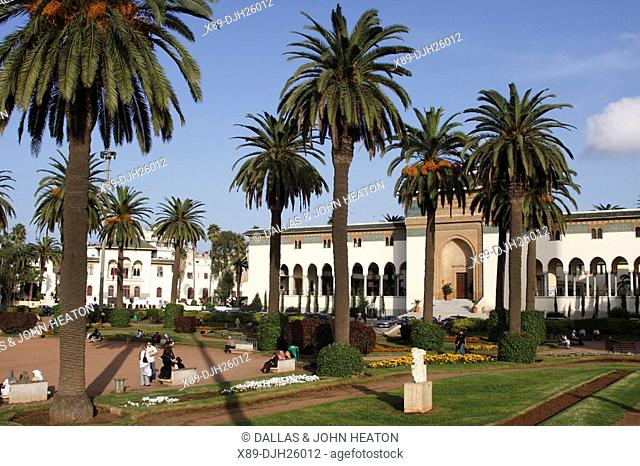 Africa, North Africa, Morocco, Casablanca, Place Mohammed V, Palais de Justice, Law Courts