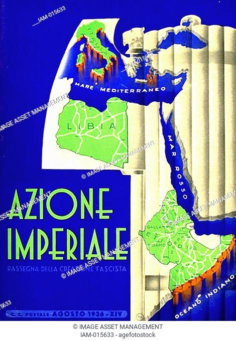 Italian Fascist Party Magazine. 'Azione Imperiale'. 1936. Magazine advancing culture directed by the Futurist writer F. T. Marinetti