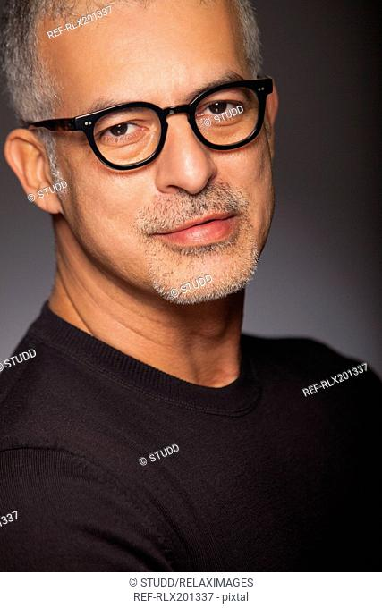 Attractive man sophisticated portrait cool stylish