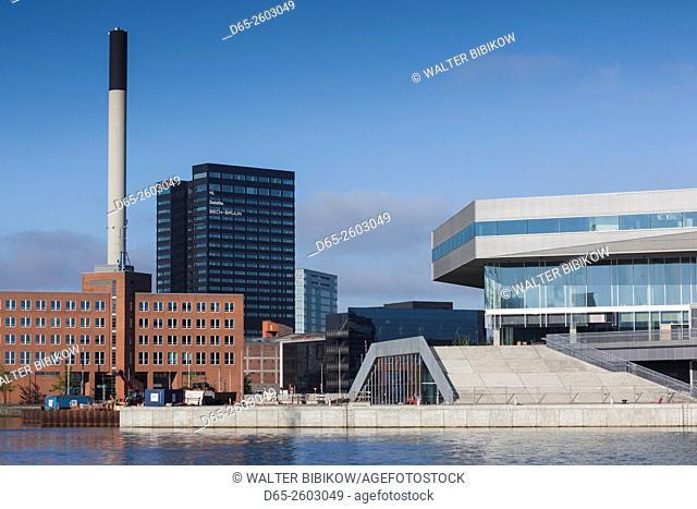 Denmark, Jutland, Aarhus, waterfront Aarhus City Library
