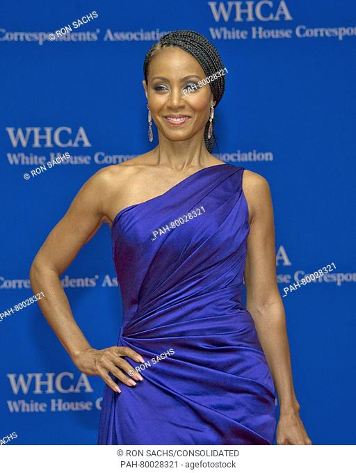 Actress Jada Pinkett Smith arrives for the 2016 White House Correspondents Association Annual Dinner at the Washington Hilton Hotel on Saturday, April 30, 2016