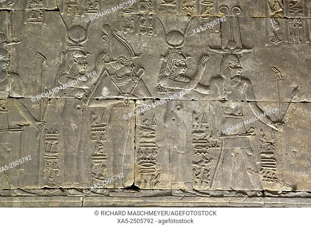 Interior Relief of Gods and Goddesses, Temple of Horus, Edfu, Egypt