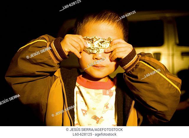 Child. Xingping. Guangxi. China