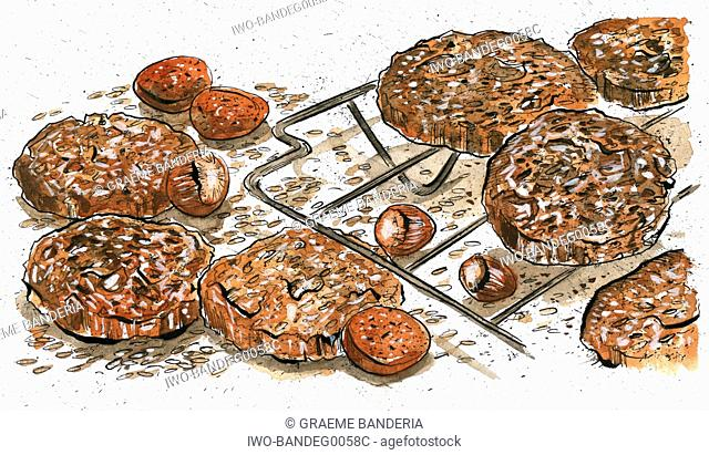 Almond and Hazelnut Cookies