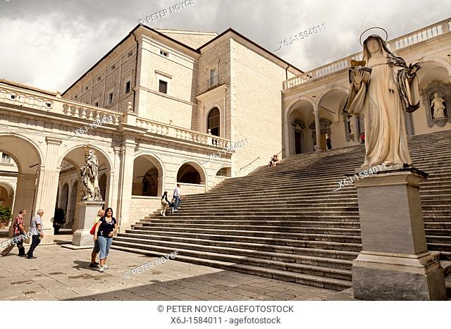 Cloister of Bramante at Monte cassino Abbey