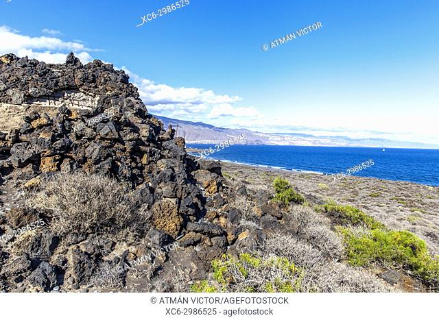 Special Natural Reserve Malpais of Güimar or Badlands of Guimar (Tenerife island)