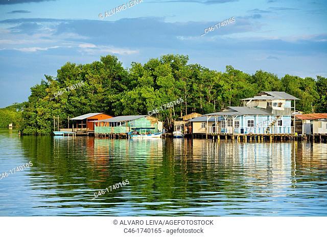 Bocas del Toro town, Colon island, Bocas del Toro province, Caribbean sea, Panama