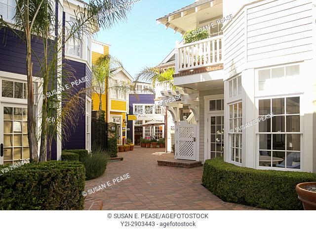 Shops off Front Street, Avila Beach, San Luis Obispo County, California, United States, North America
