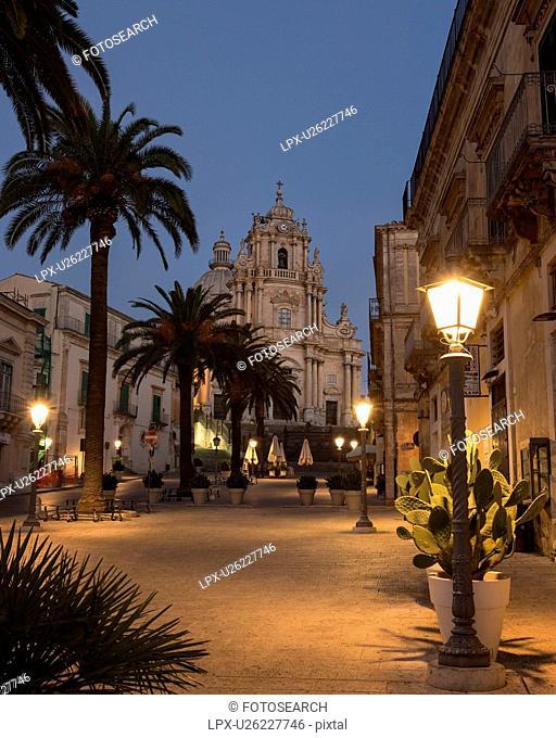 Dawn in Ragusa Ibla, Sicily, Italy