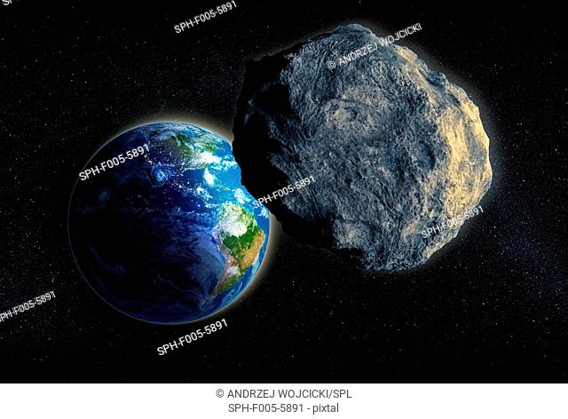 Near-Earth asteroid, computer artwork