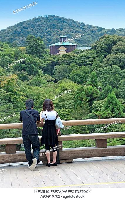 Couple at Kiyomizu-Dera temple