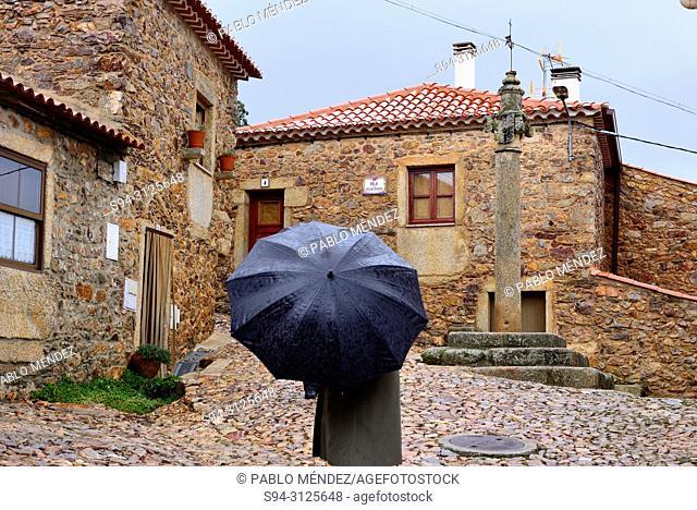 Rustic square of Penha Garcia, Castelo Branco, Portugal