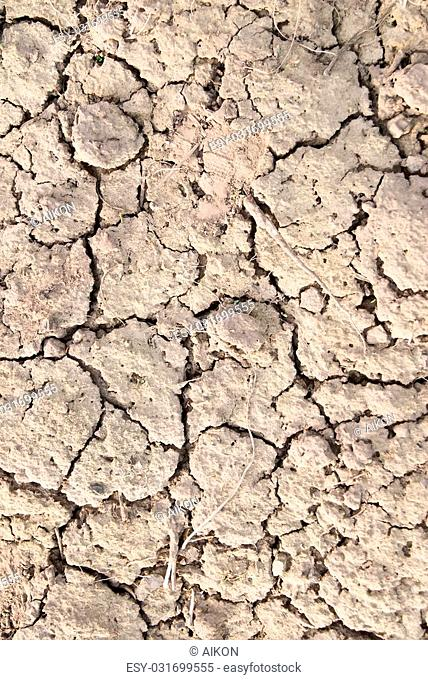 Image of the earth dried up in drought