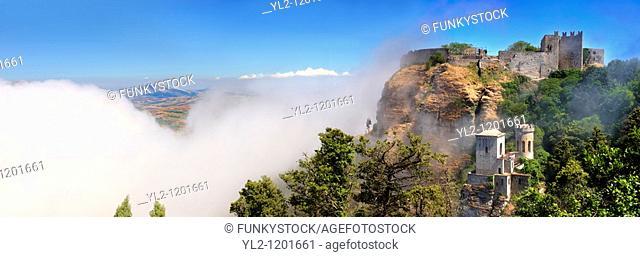 Castello di Vv©nere  Venere  vârice, Erice, Sicily stock photos