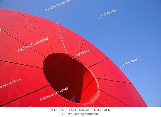 Sculpture. Juan Carlos I Park. Madrid. Spain
