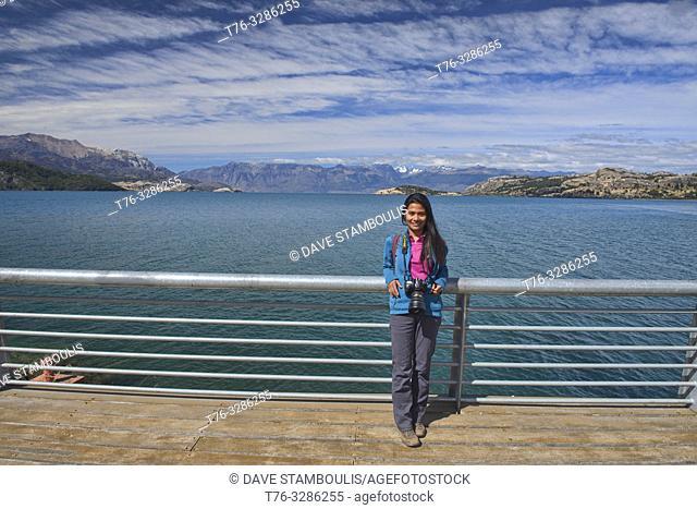 Overlooking Lago General Carrera, Rio Tranquilo, Aysen, Patagonia, Chile
