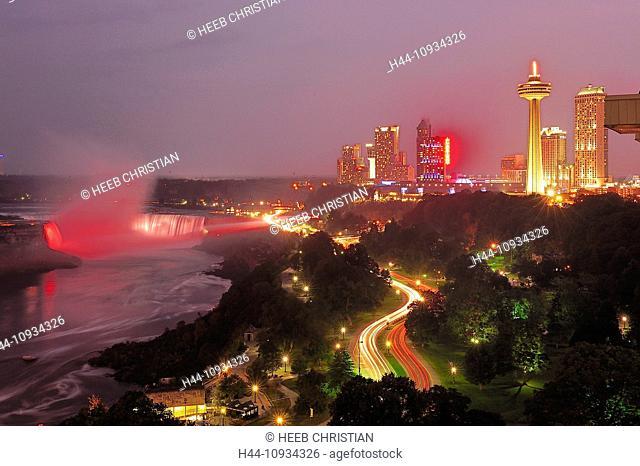 American Falls, Canada, International border, New York State, USA, United States, America, Niagara Falls, water, Niagara River, Ontario, Travel