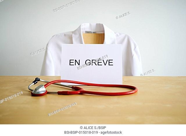 Doctor on strike