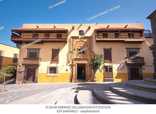Las Palmas de Gran Canaria, Spain - February 25, 2019: Columbus House Casa de Colon, Las Palmas, Canary Islands Spain