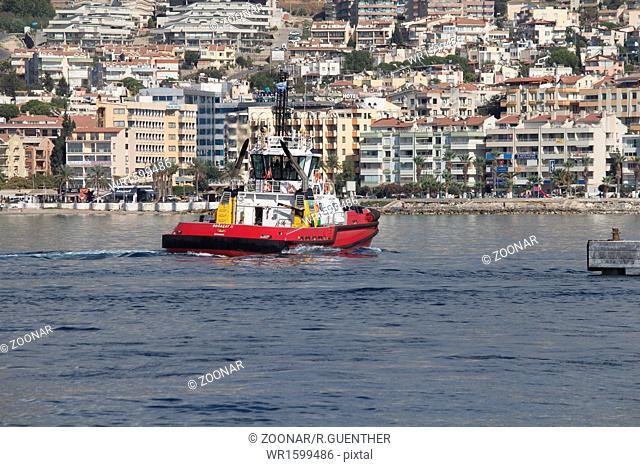 Tugboat in the port of Kusadasi