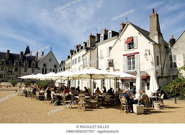 France, Loir et Cher, Vallee de la Loire listed as World Heritage by UNESCO, Blois, restaurants on the Esplanade du chateau