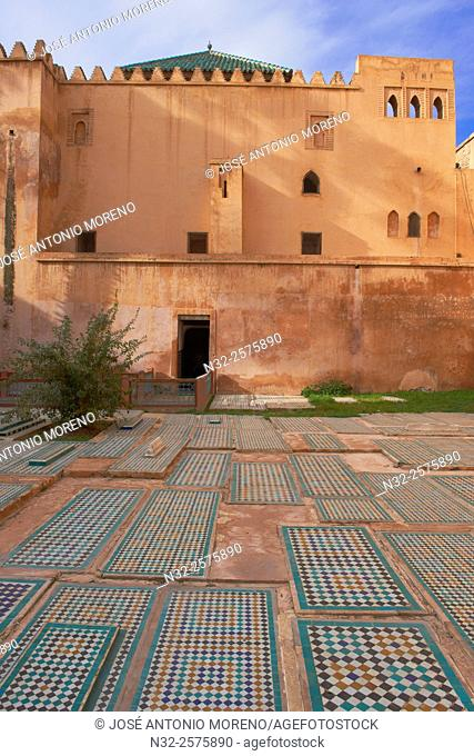 Saadian Tombs, Marrakech, UNESCO World Heritage Site, Morocco, Maghreb, North Africa