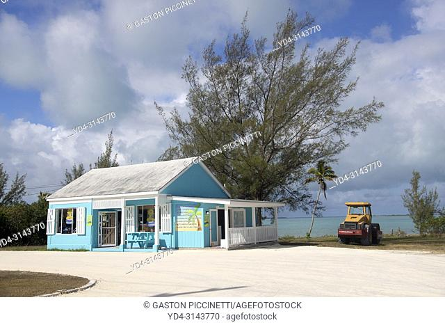 Small market, Governor's Harbour village, Eleuthera island, Bahamas