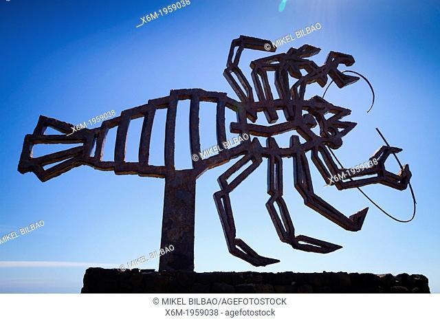 Sculpture of a crab. Los Jameos del Agua