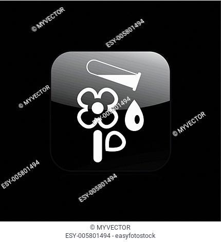 Vector illustration of single flower icon
