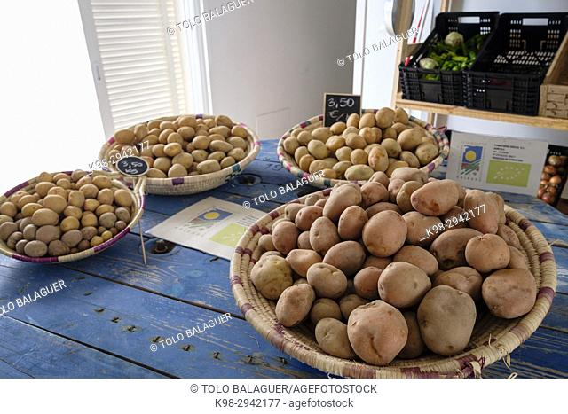 patatas ibicencas, Mercat Pagès, Centre Artesà Antoni Tur Gabrielet ,Sant Francesc Xavier, Formentera, Balearic Islands, Spain