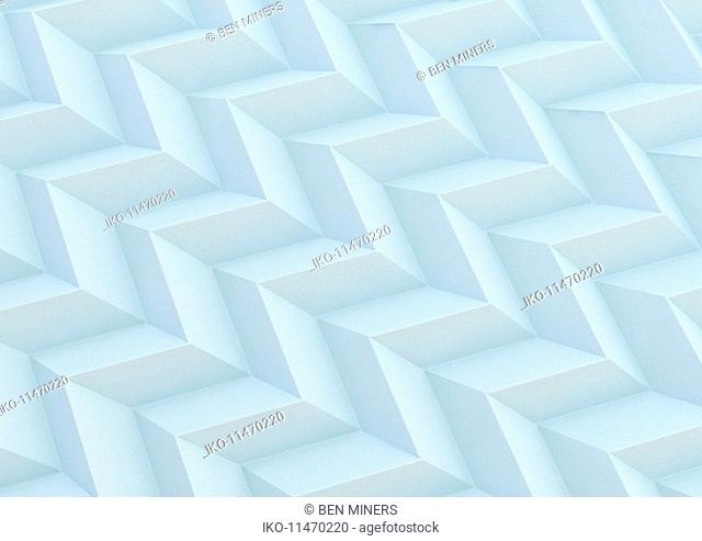 Abstract full frame three dimensional zigzag pattern